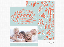 """peace on earth"" Flat Photo Holiday Cards"