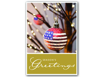 Star Bangled Ball Patriotic Christmas Cards