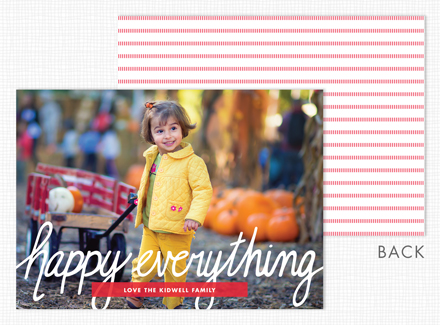 """Happy Everything"" Flat Holiday Photo Cards"