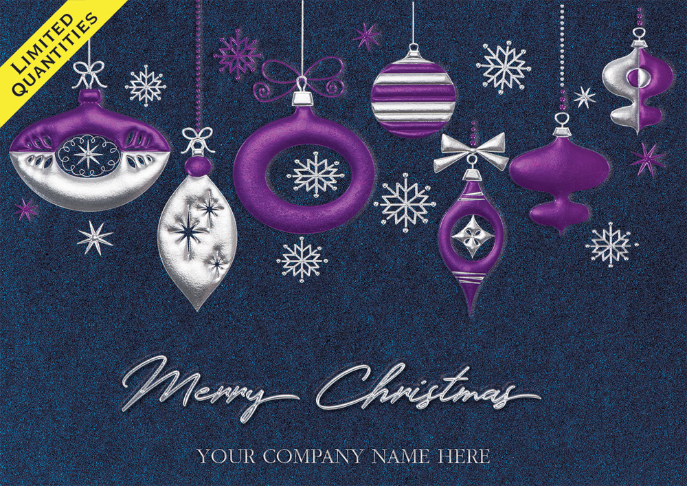 Home and Business Photo Holiday Cards - Logo Holiday Cards | Blue ...