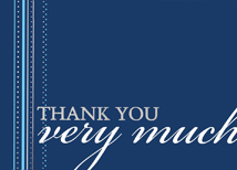 Decorative Ribbon Thank You Card